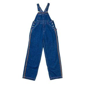 Rainbow Striped Vintage Denim Overalls Jeans Pants